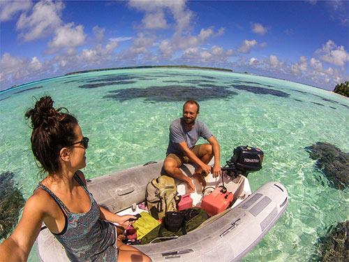Dinghy fahren auf Chagos