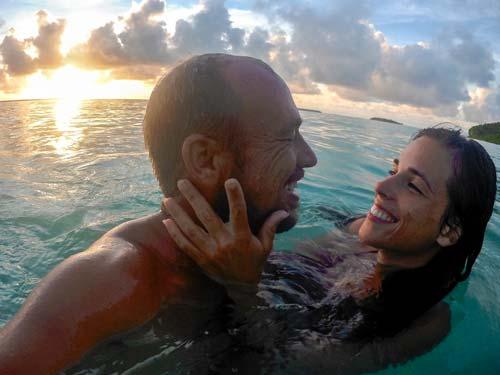 Sebastian und Jacqueline im Meer
