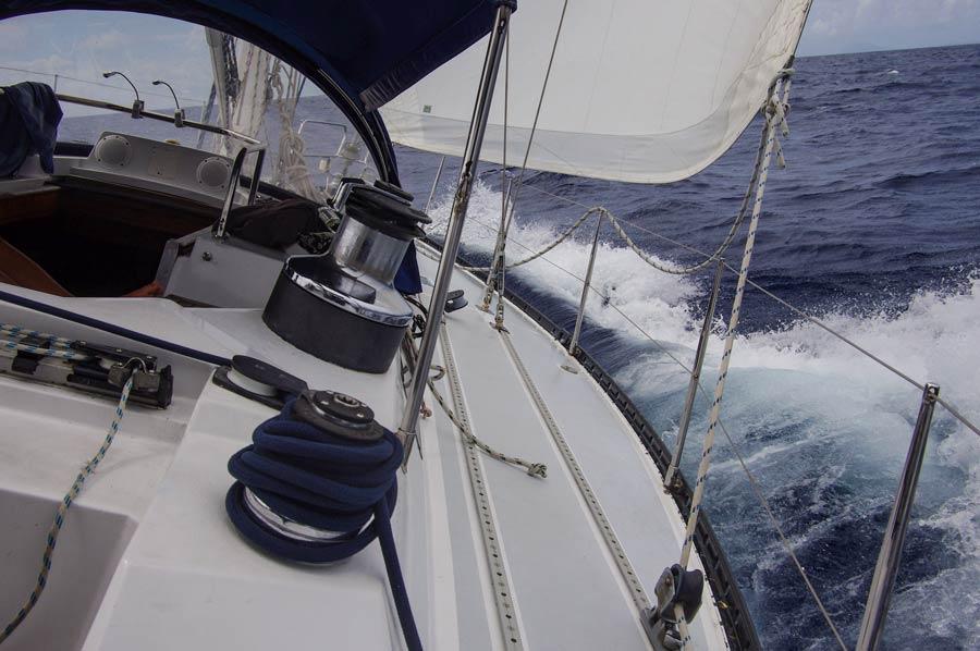 segeln auf hoher See